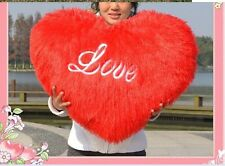 Fashion 70CM Big Red Love Heart Plush Toy Sofa Pillow Confession Cusion Doll Hot