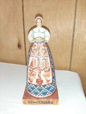 2004 Jim Shore Heartwood Creek Give Thanks Pilgrim Woman 117658 Thanksgiving Vgc