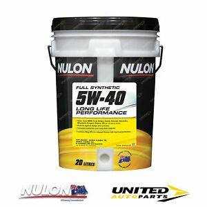 NULON Full Synthetic 5W-40 Long Life Engine Oil 20L for CHRYSLER 300C SRT8 6.1L