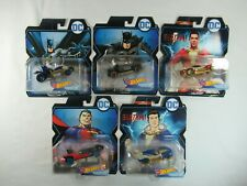5 Hot Wheels Dc Comics Character Cars Lot Batman Shazam Superman Freddy
