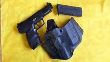 HOLSTER PADDLE W/EXTRA MAG BLACK CARBON FIBER KYDEX FN 5.7 FIVE SEVEN MKII