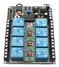 RKP18Relay8 8 Channel Relay Module PCB designed for PICAXE-18M2 & Genie-E-18