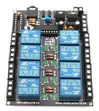 Rkp 18 Relé 8 8 Canal Módulo de Relé PCB diseñado para Picaxe - 18M2 & Genie-E-18