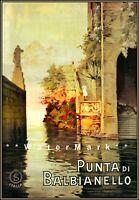 Punta Di Balbianello 1925 Italy Vintage Poster Print Retro Style Wall Art