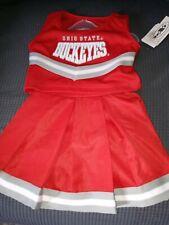 Ohio State Buckeyes Cheerleader 3-Piece Outfit Costume ~Halloween~2T OSU