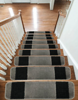 NEW Luxury Carpet Stair Treads NON-SLIP MACHINE WASHABLE Mats/Rugs, 13pc