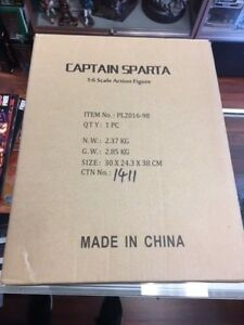 Phicen Limited 1:6th Figure Captain Sparta PL-2016-98 BOX AND DISPLAY ONLY