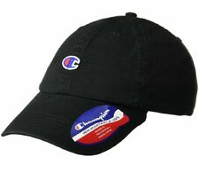 Champion Men s Adjustable-Osfa Our Father Dad Hat Small Logo BLACK New 9370a24c1eb