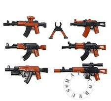 7 Custom Guns Lot WW2 AK Military SWAT POLICE Toy Weapons for LEGO Minifigures!!