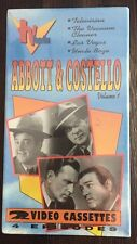 Abbott & Costello Volume 1 VHS - TV Favorites - 2 VHS Set - NEW 5051