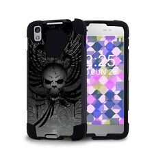 Beyond Cell Shell Case Hyber 2 For Alcatel IDOL 4 Wing Skull Design Cover