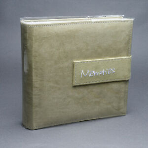 """New Pioneer Photo Albums Light Green Faux Suede Album 50 Sheets - 200 4""""x6"""" Pics"""