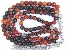 6mm x 99 DREAM AGATE Akeek-e-Yamni PRAYER BEADS ISLAMIC TASBIH Masbaha