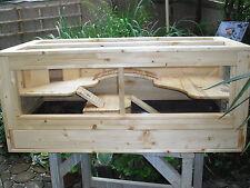 """Holzkäfig """"Cedrik"""" groß mit Schiebetüren für Meerschweinchen, Hamster etc."""