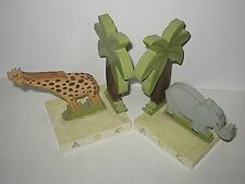 Children's Alphabet Set of Bookends Giraffe Elephant Animal by Teamson Designs