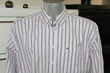 TOMMY HILFIGER bonito camisa de rayas CHIC talla XL - COMO NUEVO