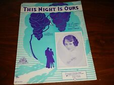 This Night Is Ours, 1933, Kay Weber on cover, by McCarty, Finn and Weight