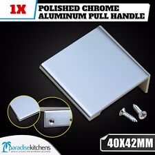 1x CHROME ALUMINUM 40x42mm KITCHEN CABINET CUPBOARD DRAWER PULL HANDLE