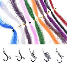 Colorful Crystal Flash String Jig Hook Lure Making Fishing Material Random Color