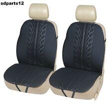 BMW Opel Audi Coprisedili Neri 2 Schienali Sedili Fodere Tessuto Nero Nuovo