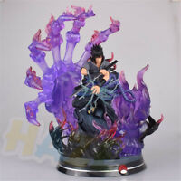 Naruto Uchiha Sasuke PVC Figure Painted Statue Collection Toy In Box 34cm