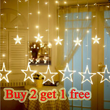 LED Curtain Fairy Lights Wedding Party Christmas Party Decoration Indoor/Outdoor