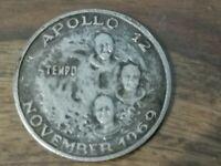 Moneta medaglia commemorativa Apollo 12 Sbarco sulla luna 100 Gold Tempo