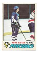 1977-78 O-Pee-Chee #188 Wayne Bianchin RC Rookie Pittsburgh Penguins