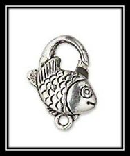 Clasps, Silver, Value Variety Pack of 23 , Pewter/Fish/Heart