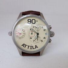 Pryngeps Orologio Attila 90+ Uomo Cinturino Marrone Time Watch Chrono