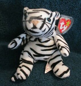 Ty Beanie Baby Blizzard the White Tiger DOB December 12, 1996 MWMT Free Shipping