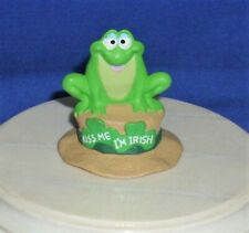 Hallmark St. Patrick's Day Merry Miniatures Irish Frog on Hat 1991 Kiss Me #1