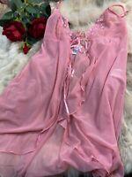 H&m pink Camisole Top sleepwear nightwear size L