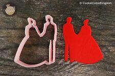 `Wedding Bride and Groom Cookie Cutter, 3D Printed