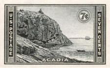 1935 7c Acadia Park, Imperforate Stamp issued without gum Scott 762 Mint Vf Nh
