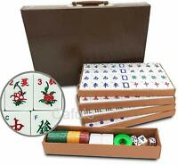 "Chinese Mahjong Set Mah-Jongg Majiang X-Large 144 Numbered Tiles 1.5"" in Case"