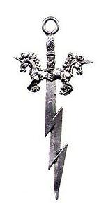 Pendentif Epée de la Licorne En Étain - (Fabrication Française)