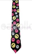 Unisex Novità Costume Black Tie con colore Smiley Facce-NUOVISSIMO