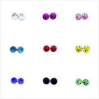 Classic magnetic magnet crystal stud earrings, multiple colours