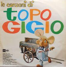 DISCO LP 33 GIRI LE CANZONI DI TOPO GIGIO 33MTX 118 1963 PEPPINO MAZZULLO PEREGO