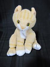 STUFFED PLUSH KITTY CAT KITTEN ORANGE TAN WHITE STRIPE TABBY TIGER BEAN BAG TOY
