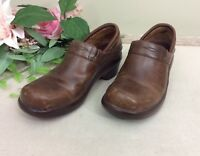 Womens Ariat Brown Leather Closed Back Clogs sz 6  1/2