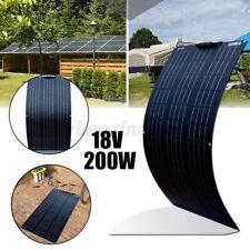 200W Flexible Solar Panel Cell Module Kit Monocrystalline 18V Camping RV Marine