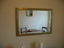METAL EFFECT RECTANGULAR WALL MIRROR 85 x 60 CM COLLECTION ONLY