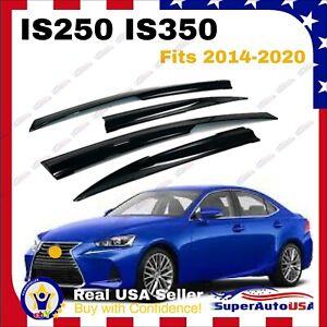 Fits Lexus IS250 IS350 2014-20 3D Mugen Window Visor Rain Guard Vent Deflectors