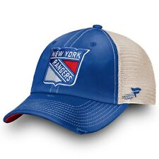 Mens Fanatics Blue New York Rangers True Classic Washed Trucker Snapback Hat