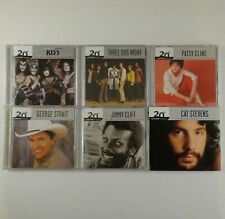 20th Century Masters Lot of 6 CDs Kiss Jimmy Cliff Three Dog Night Patsy Cline