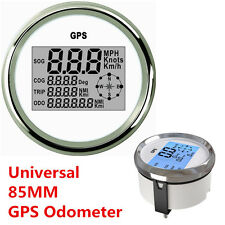 85mm GPS Digital Speedometer Odometer Gauge For Auto Car Truck Marine Waterproof