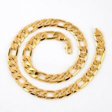 """Men's Necklace 24""""Curb Chain 12MM link 18k Yellow Gold Filled Fashion Jewelry"""