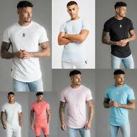 Gym King Mens Short Sleeve Stretch Crew Neck High Build Logo Core T shirt 0001